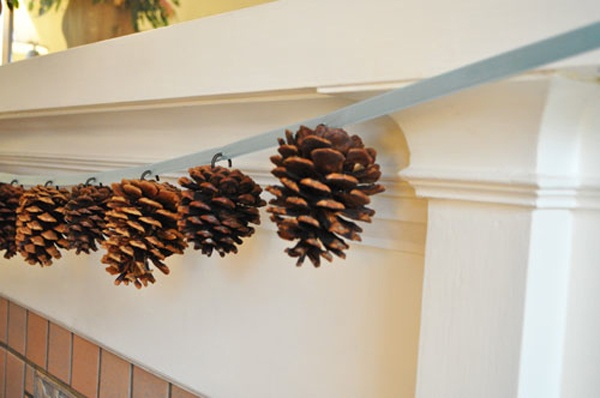 Winter Decoration. Just change the ribbon color to gold or red for an easy transition from fall to winter
