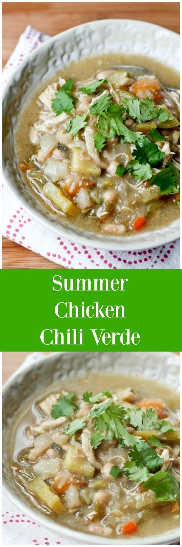 Summer Chicken Chili Verde - Recipe via http://aggieskitchen.com