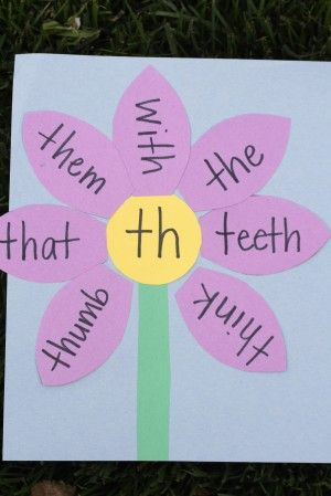 consonant digraph flowers— could do this w/French phonics as well