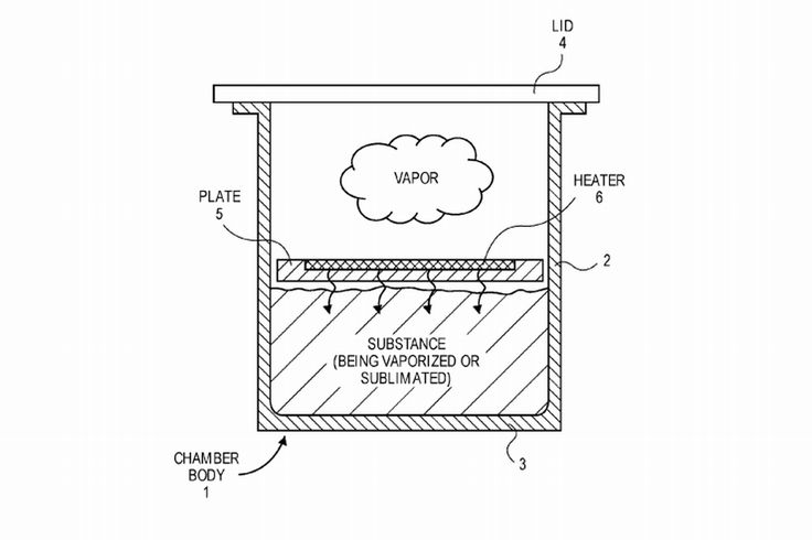 Apple has filed a patent for some sort of vaporizer   The US Patent and Trademark Office this week published a patent application by Apple that details a peculiar vaporizer technology. The document filed last year outlines plans for an apparatus that can regulate temperature to release heat from a substance within a canister. Its also able to keep air out of the chamber of the substance being vaporized.  That little nugget of information might lead you to think that Apple is building some…
