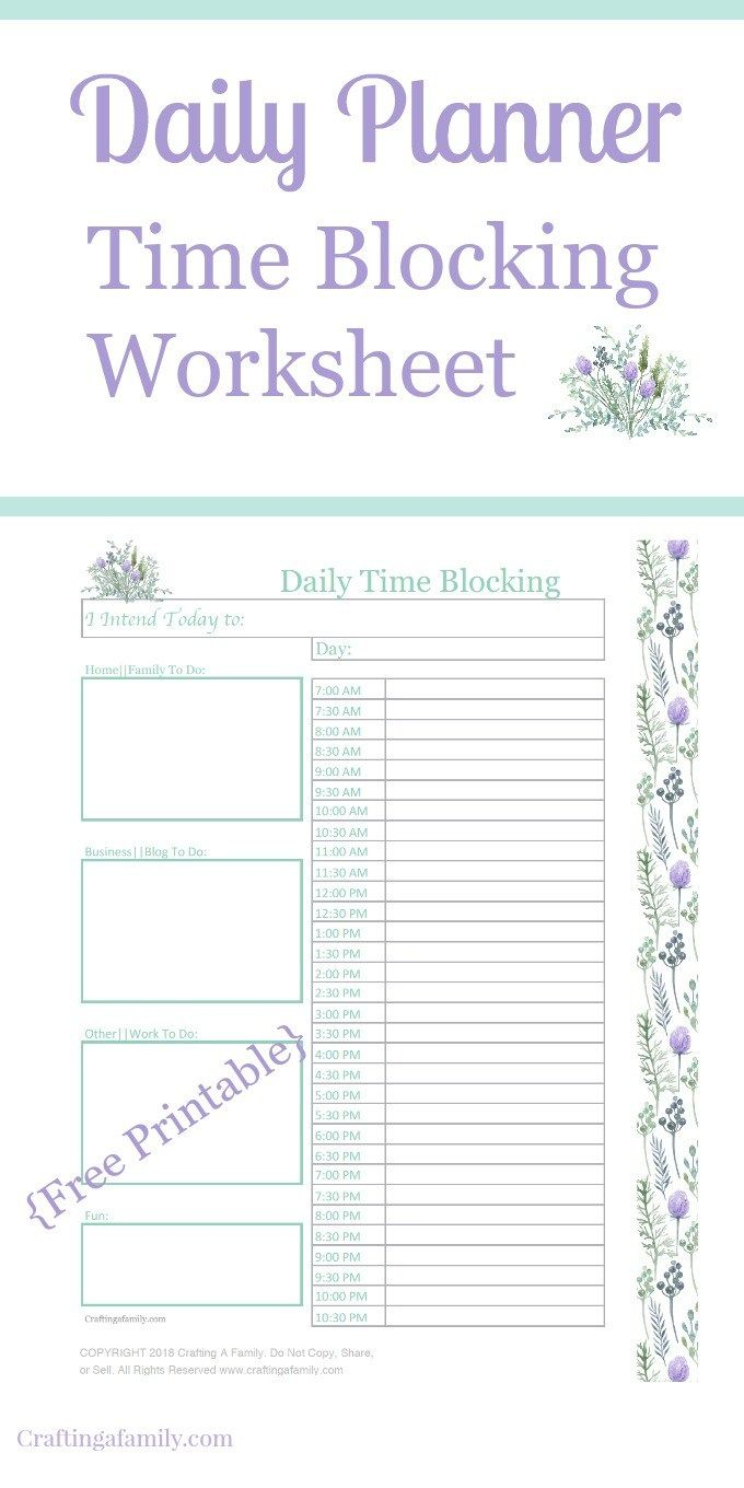Try This Beautiful Daily Time Management Time Blocking To Help Our Day Some Days Are Just S Time Management Worksheet Day Planner Organization Organizing Time