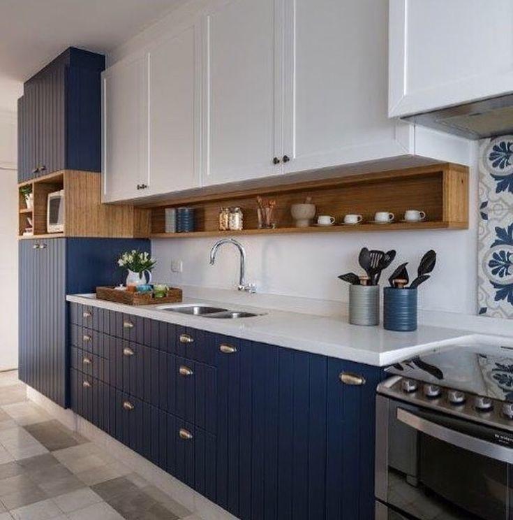 """1,014 curtidas, 14 comentários - Decoração de Interiores (@casa.pensada) no Instagram: """"Foi-se o tempo que os armários da cozinha passavam despercebidos. Cada vez mais temos visto cores,…"""""""