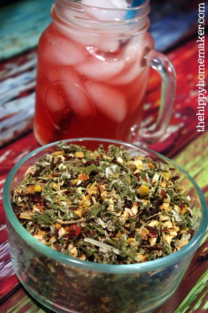 Flowerchild Refreshment Tea Healthy Homemade Herbal Kool-Aid Alternative - thehippyhomemaker.com