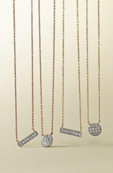 Dana Rebecca Designs 'Sylvie Rose' Diamond Bar Pendant Necklace   Nordstrom