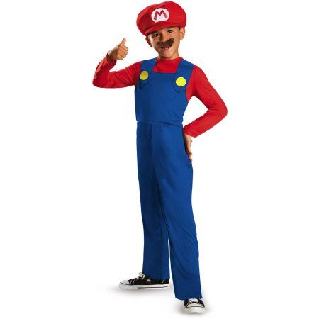Super Mario Bros. Mario Classic Child Halloween Costume, Boy's, Size: Small, Multicolor