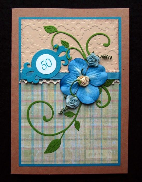 Handmade birthday card - MARNA