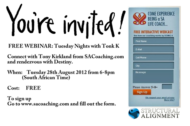 go to www.sacoaching.com to sign up for a free webinar