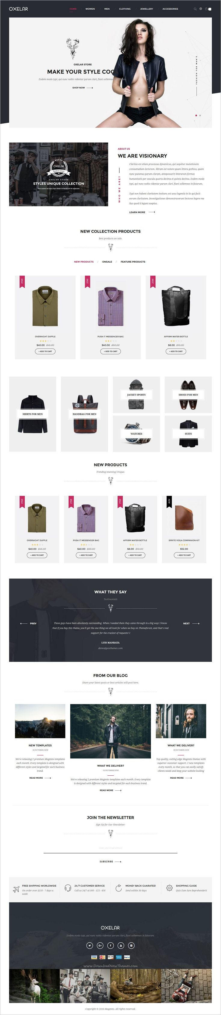 Oxelar is beautifully design multipurpose #Magento theme for #webdev stunning #fashion store #eCommerce website with 6 unique homepage layouts download now➩  https://themeforest.net/item/oxelar-multipurpose-responsive-magento-theme/18734444?ref=Datasata