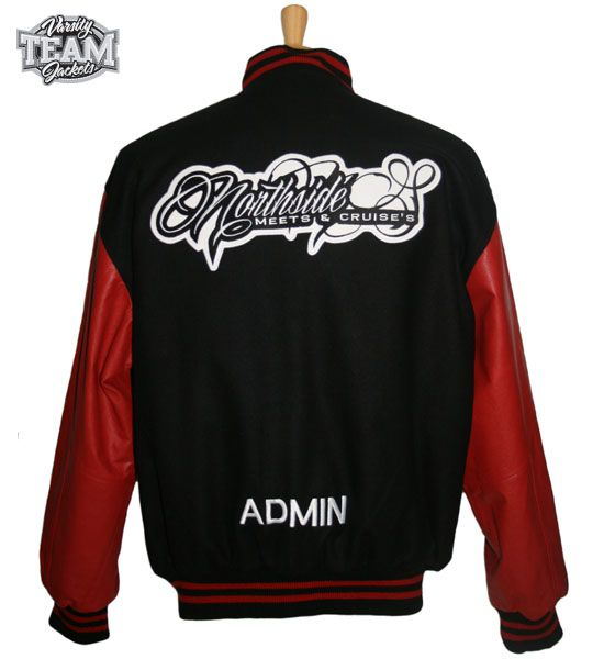 Northside Meets and Cruise's custom wool and leather embroidered varsity jacket back by Team Varsity Jackets. www.facebook.com/TeamVarsityJackets  www.teamvarsityjackets.com.au