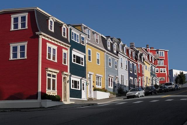Jelly Bean Row, St.John's, Newfoundland   Canada.. Typical St.John's.