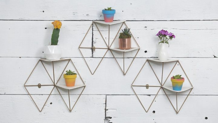 DIY geometric shelves for a mini hanging garden | CBC Life