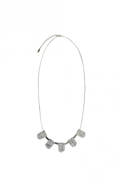 Marble Fan Necklace - from Decjuba