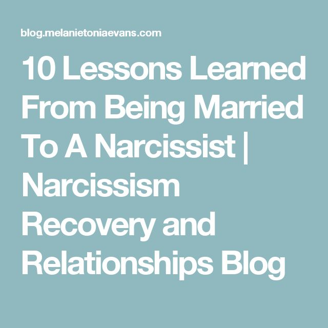 Hookup after being married to a narcissist