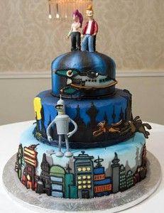Futurama wedding cake    Edible Art Bakery & Dessert Cafe, Raleigh, NC. Raleigh Wedding Cakes. Sweet. Southern. Scratch-made. Since 1982.