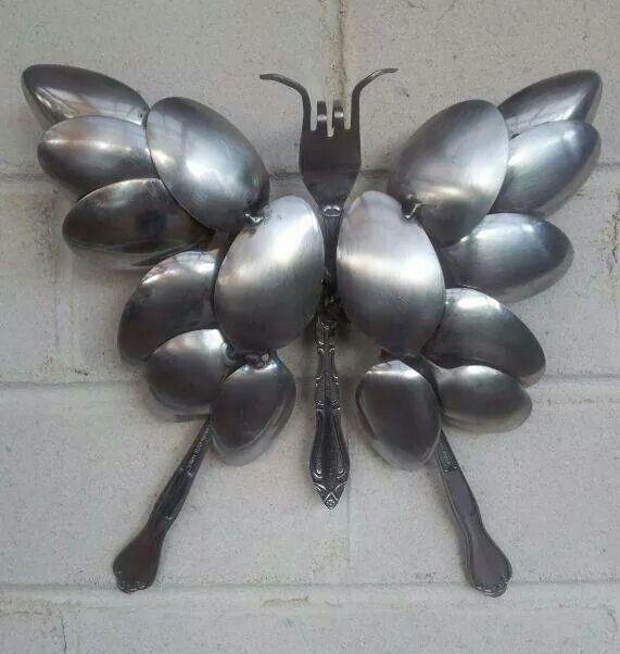 Spoon  butterfly  art