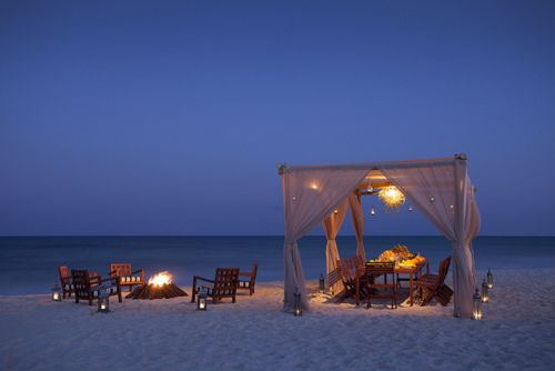 bonfire at the beach after dinner. complete with a smore bar. Would be great for a small, intimate wedding