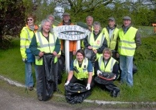 Litter pickers help to clean up Ringsfield