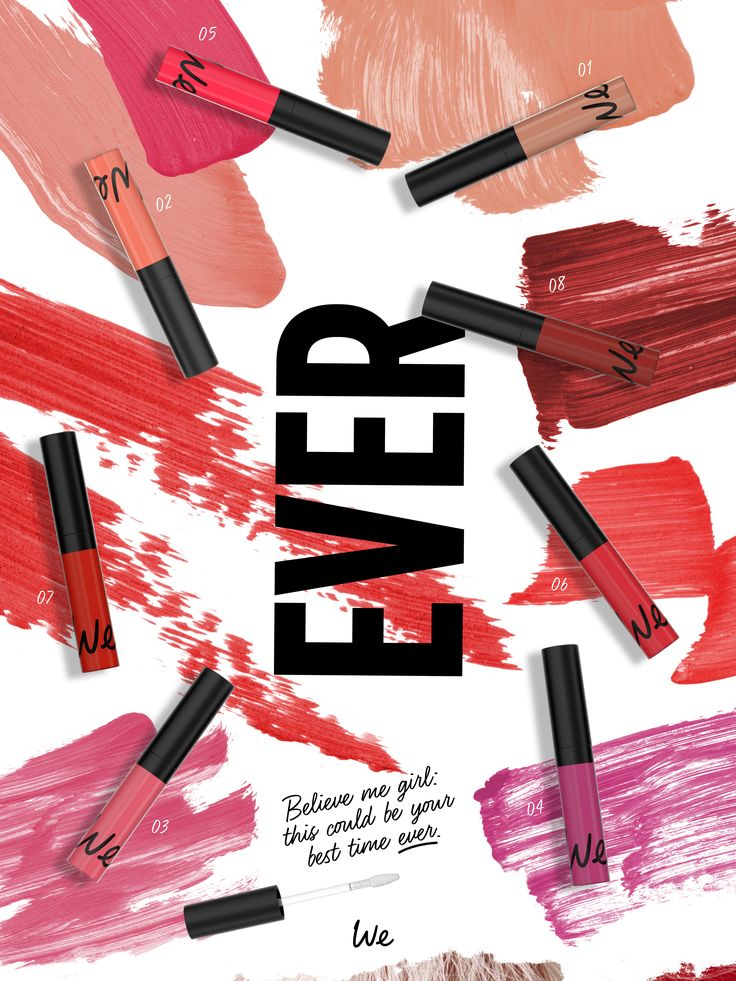 EVER Liquid Lipsticks Ultra Matte - Long Lasting - Waterproof! www.wemakeup.it/#ever