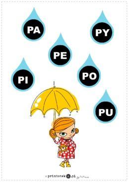 Deszczowe sylaby - P - Printoteka.pl