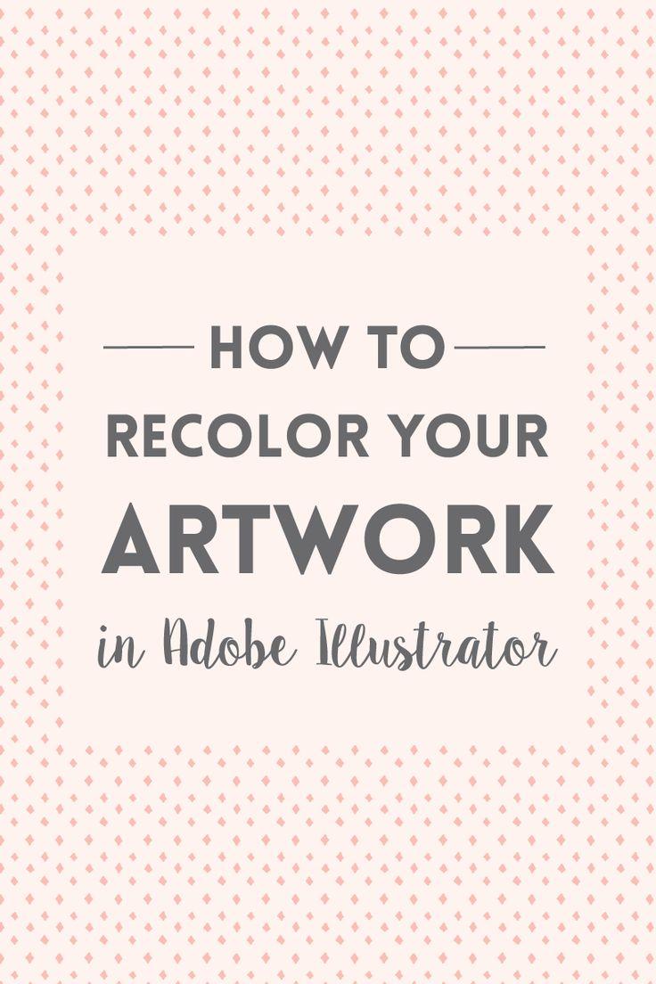 How to recolor artwork in Adobe Illustrator