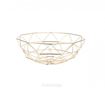 Patera Diamond Cut large iron gold plated by pt - Sklep ExitoDesign