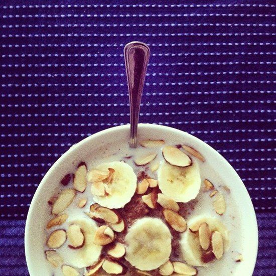 "Instagram Breakfast Pics That Make For a Good Morning: For idafrosk, ""good old banana oatmeal with toasted almonds"" is a tried-and-true breakfast favorite."