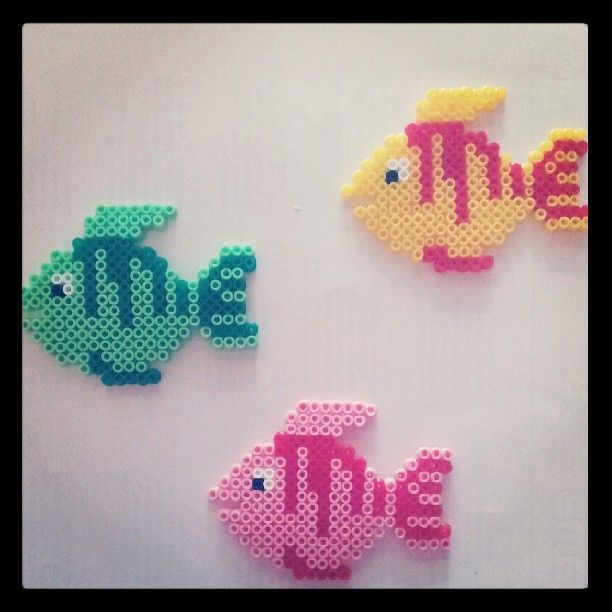 Fishes hama beads by kreatas