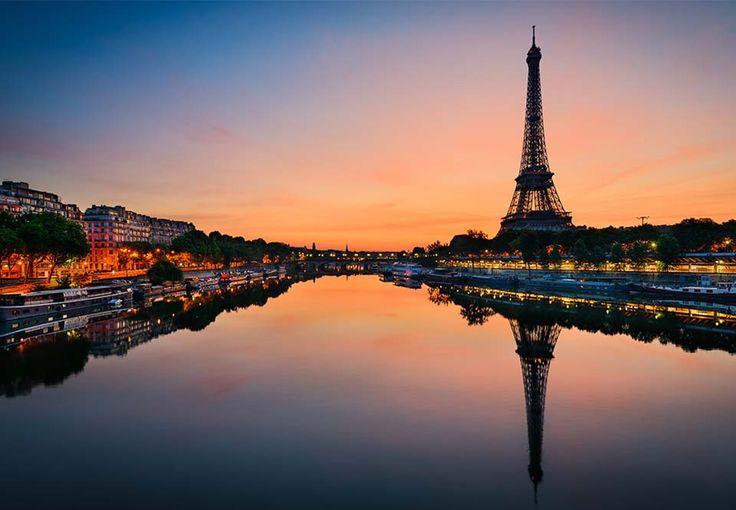 Solnedgang i Paris