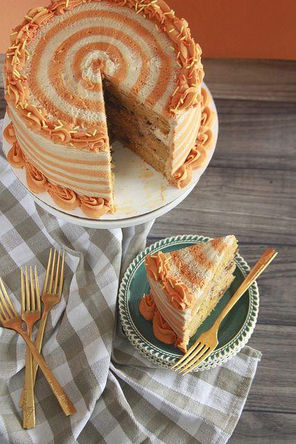 Kürbis Snickerdoodle Kuchen