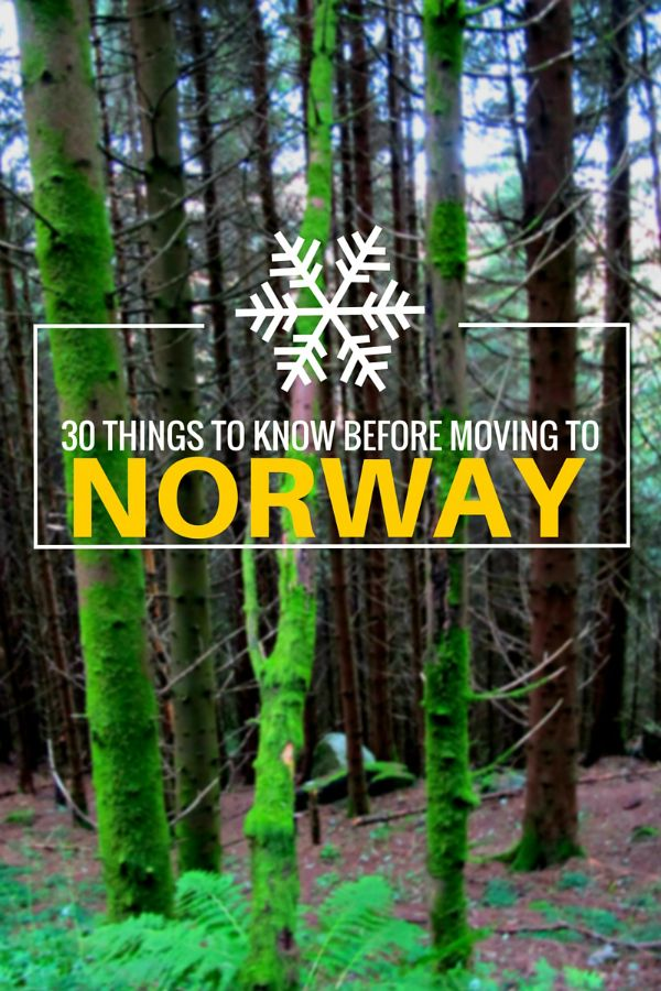 30 Things to Know Before Moving to Norway: An expat's guide to important opinions and facts on life in the Scandinavian country.