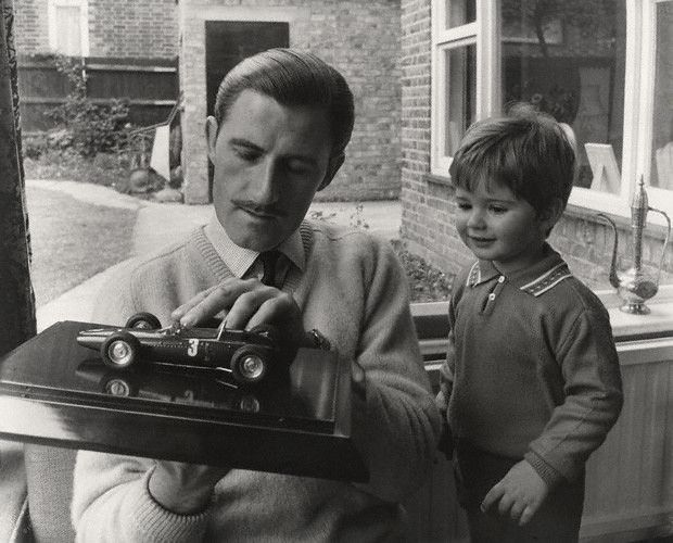 Graham Hill | Graham Hill with his future successfull son Damon Hill... teaching :)