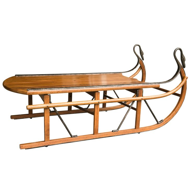 1stdibs | Unusual Coffee Table In The Form Of A Sled