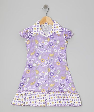 Take a look at this Purple & Green Bow Ruffle Sundress - Infant, Toddler & Girls by Vintage Circus on #zulily today!