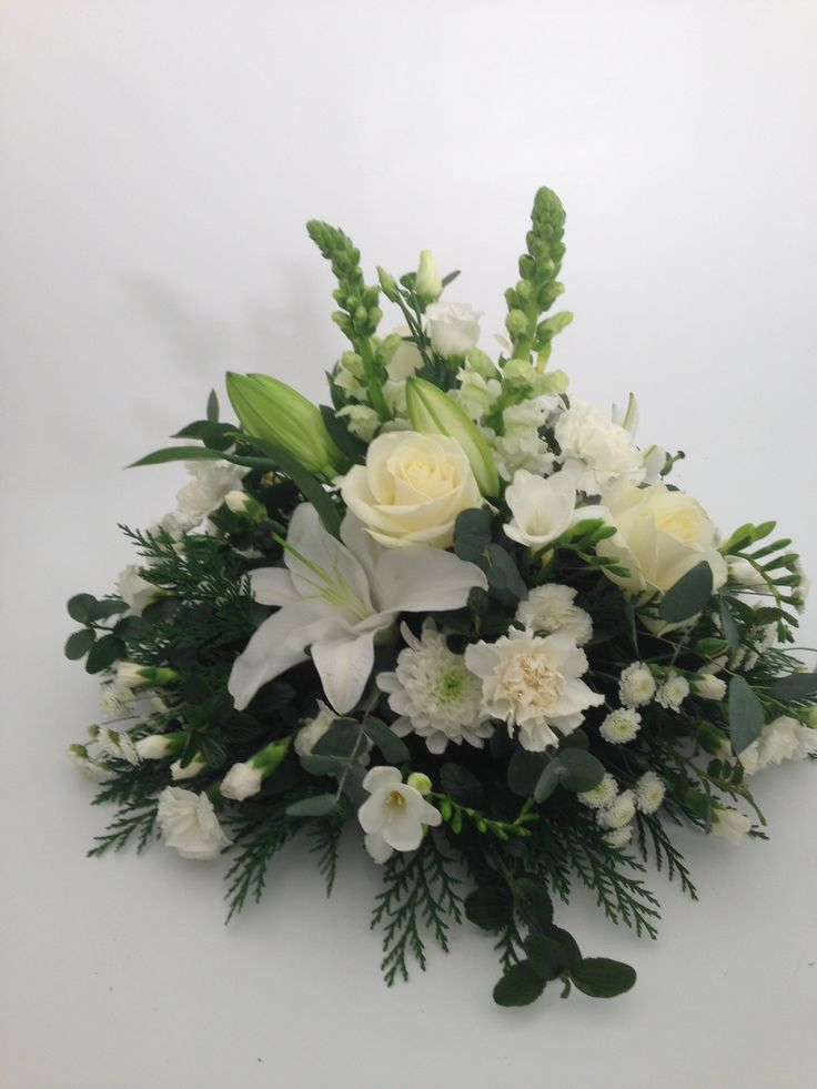 All white large posy tribute