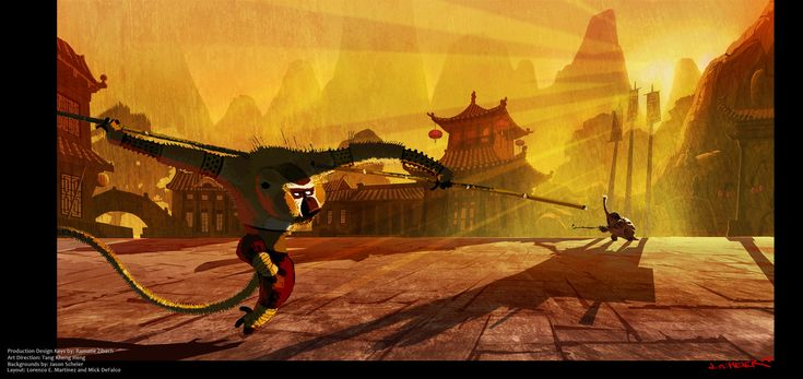 Kung Fu Panda - Secrets of the Furious Five - Visual Development - Background Painting, Jason Scheier on ArtStation at https://www.artstation.com/artwork/kung-fu-panda-secrets-of-the-furious-five-visual-development-background-painting