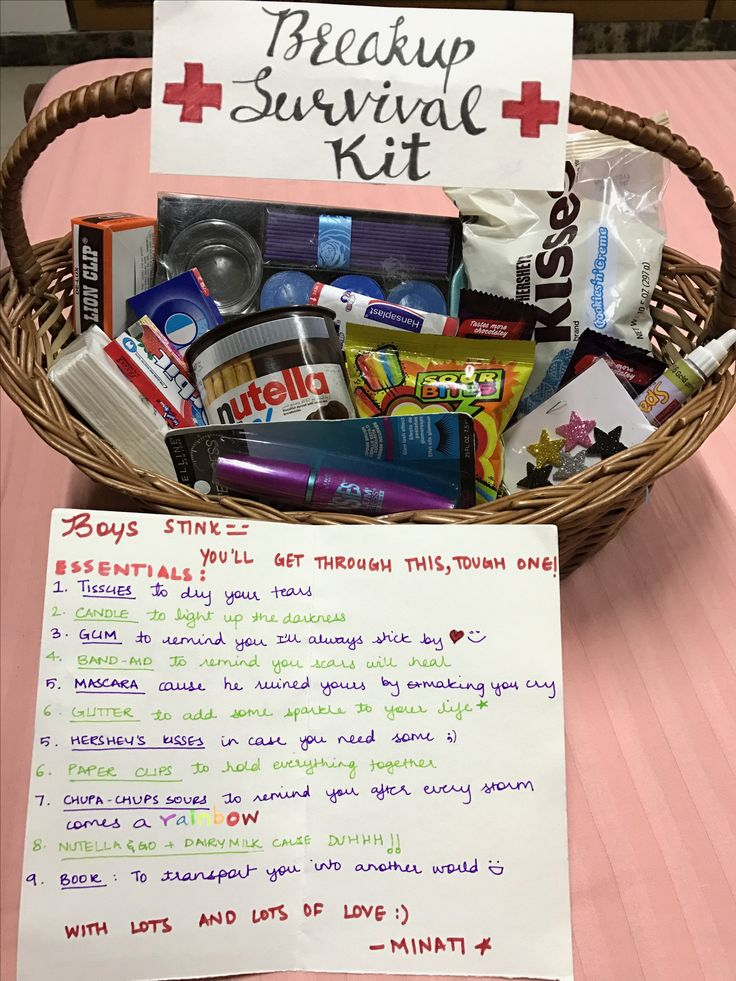 Breakup survival kit for my friend :)