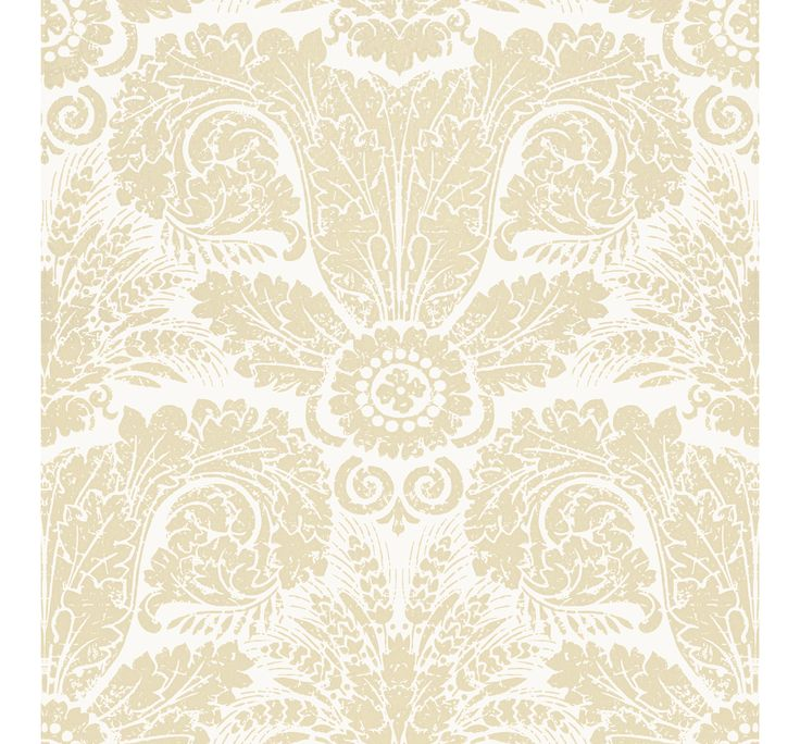 WH154 01  Wheat Damask  Beige on Off White by Waterhouse Wallhangings