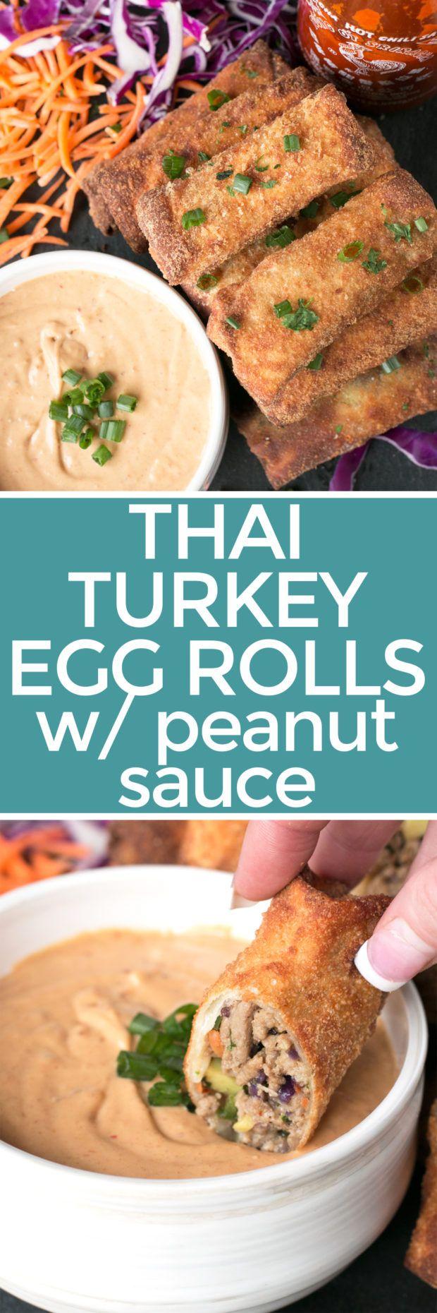 Thai Turkey Avocado Egg Rolls – Cake 'n Knife