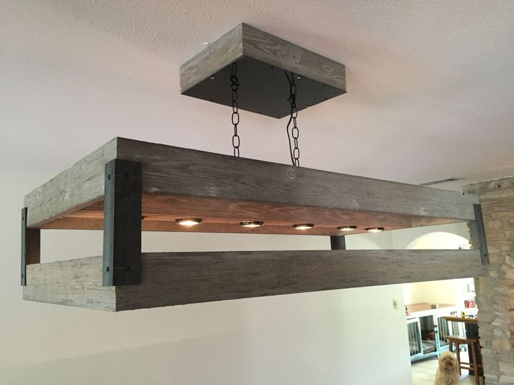 Rustic Light Fixture For Pool Table