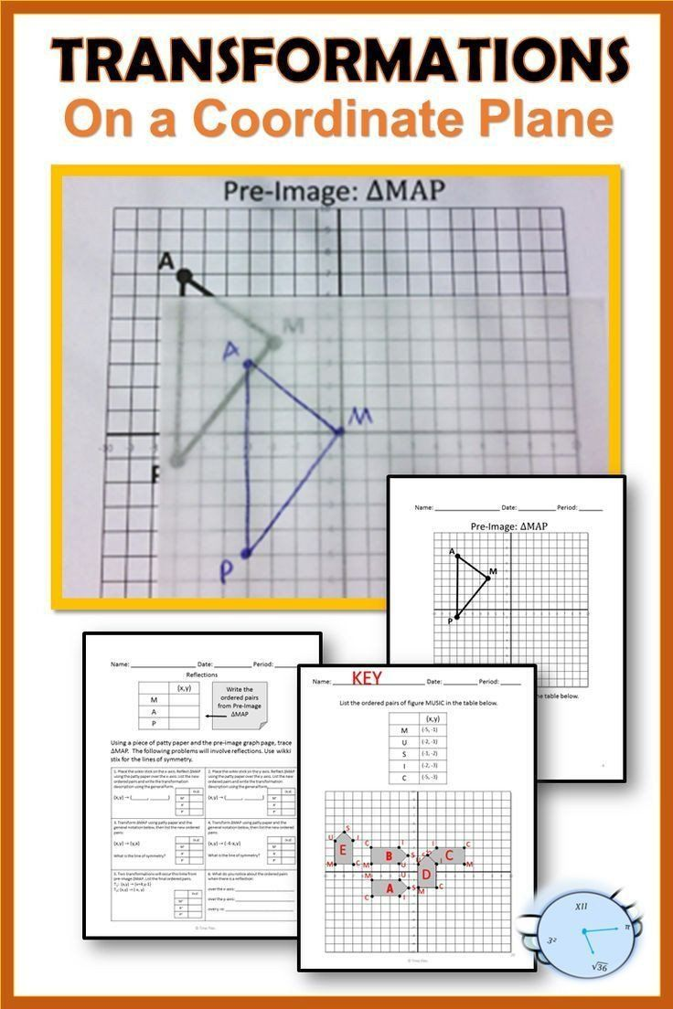 Geometry Transformations Worksheet Answers Geometry