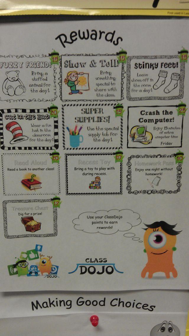 Classroom Reward Ideas ~ Best class dojo images on pinterest classroom ideas