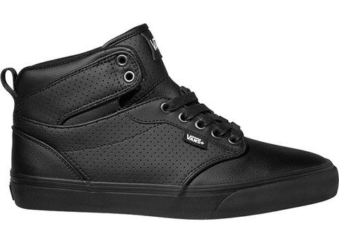 mens vans atwood black leather