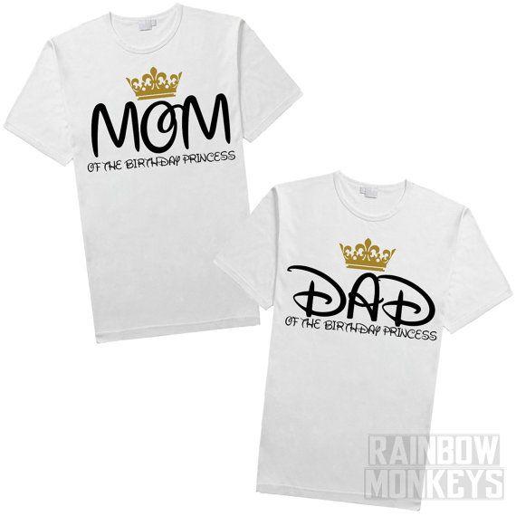 Mom of the Birthday Princess Girl Birthday Shirt by RMonkeys