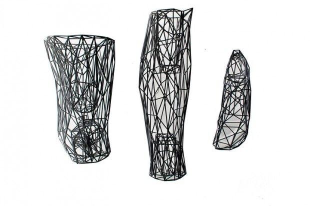 Prothèse futuriste imprimée en 3D par William Root..