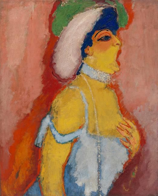 Modjeska, Soprano Singer,1907, by Kees Van Dongen