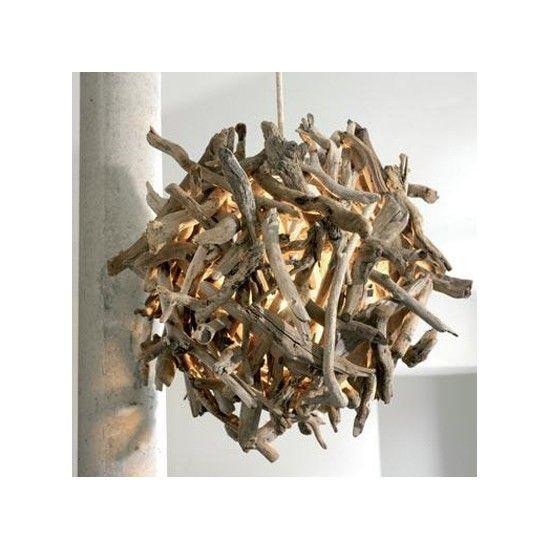 Lustre en bois flotté 31-IGNIQ, Pacific Compagnie, 1430 €