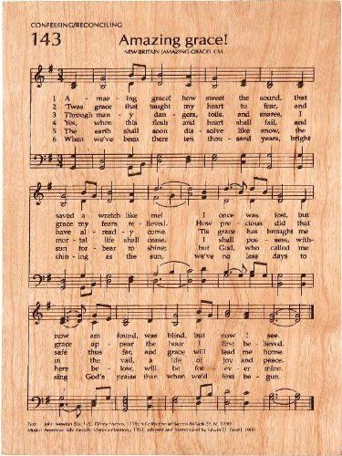 Amazing Grace Engraved Hymn, Musical Inspiration by P Graham Dunn * See this great image  : Home Decor Plaques