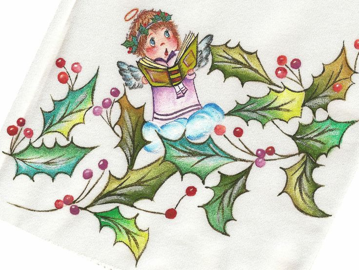 Pintura en tela navidad mis manualidades - Manualidades de navidad en tela ...