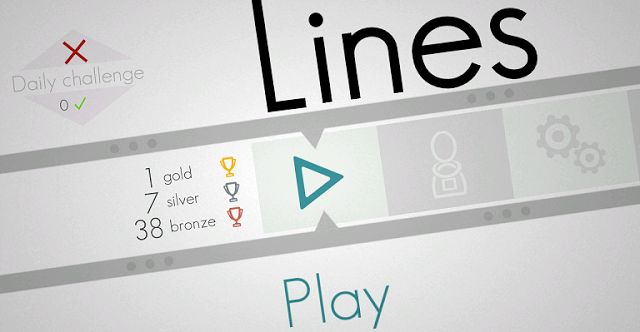 Lines  I love simple and beautiful puzzle games and this one is my favourite at the moment.  Lines by Leo de Sol Apps  In Lines for Android you must race to 'flood-fill' more of the screen than the computer. The gameplay involves selecting a point on the line for your coloured paint to start filling. The colours then race each other as they run down the lines with apparent minimal viscosity. If you have filled more of the screen than the computer then you win and you get 'medals' with which…