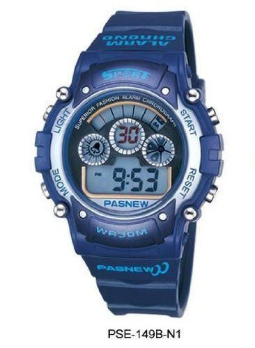 HighQuality PASNEW Fashion Water-proof Boys Men Digital Sport Watch N1 by PASNEW. $21.80. Gender: students, boys, men Style: Sport Movement: digital Water-proof: 3ATM Case material: ABS Band Material: PU Color: N1,N3,N4,N5 Clasp type: buckle Size: 45mm Age: Modern (2000-present) Features: Alarm, Chronograph, Date Features: 100% brand new and high quality sport watch from large manufacturer High quality Japan movement and pu band Display: digital Back light function Stop watch f...